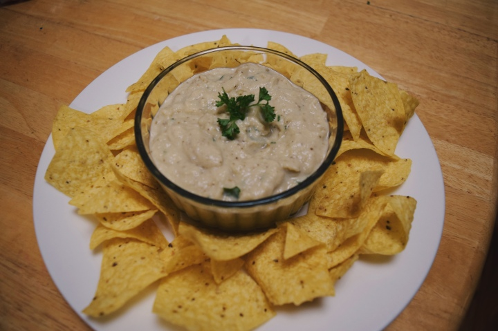 Roasted Eggplant Tahini Dip/Christmas Party Appetizers (Vegan)
