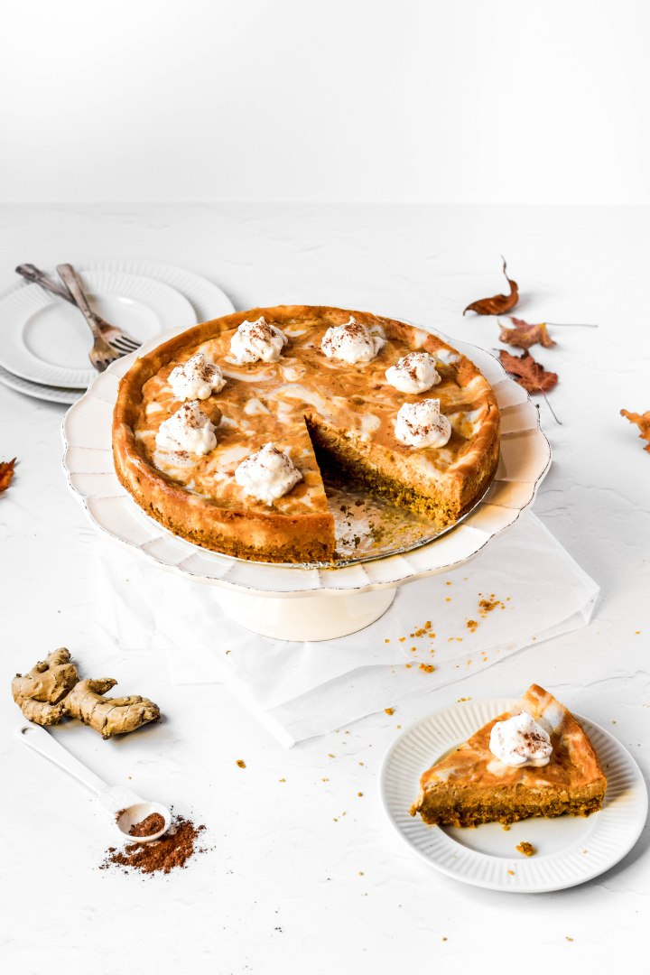 Vegan and Gluten Free Pumpkin Spiced Cheesecake