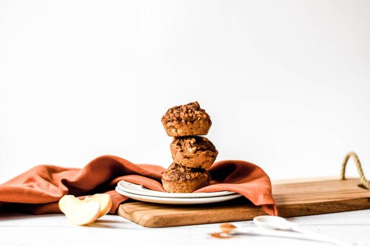 Gluten Free + Vegan Apple Cinnamon ChaiMuffins